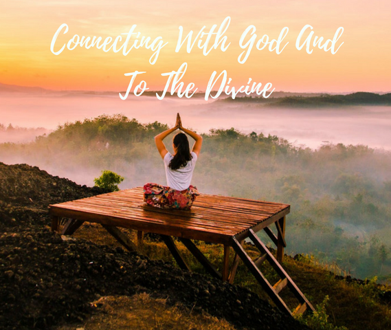 a woman is sitting on a pier in a yoga pose, overseeing a lake, 10 Buckets for Work Life Balance: #9 Better Connecting with God and to the Divine