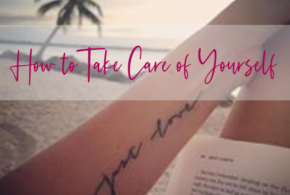 woman laying in beach chair, reading a book, tattoo arm just love, view of the ocean, how to take care of yourself