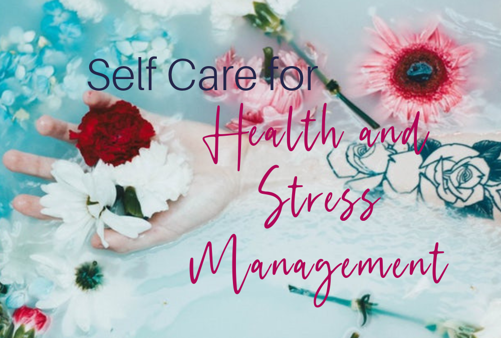 woman holding a rose in her hand, other flowers on a table, You Need to Get It Done: The Importance of Self Care for Health and Stress Management